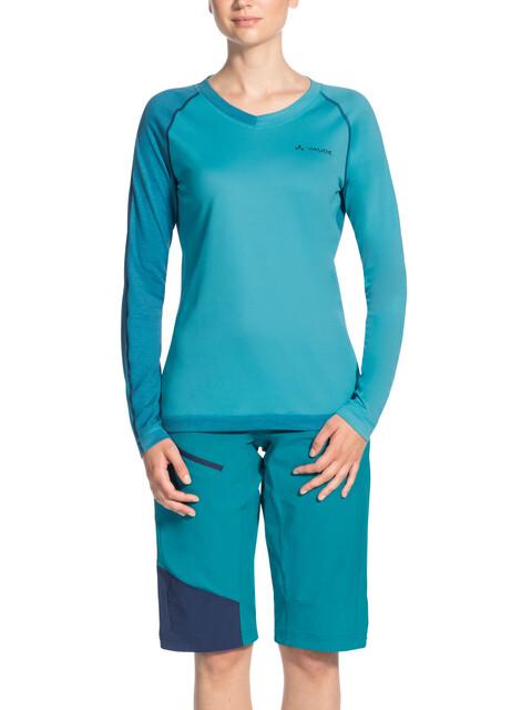 VAUDE Moab II LS Shirt Women cyan